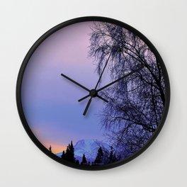 Chugach Mts Serenity Sunrise - I Wall Clock