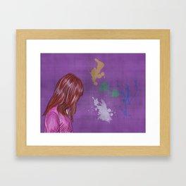 Little Lily Framed Art Print