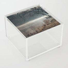 Morning fog, river and sunrise Acrylic Box