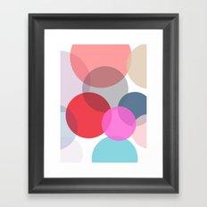 Pop Dots Framed Art Print