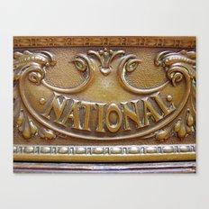 Antique National Cash Register 2 Canvas Print