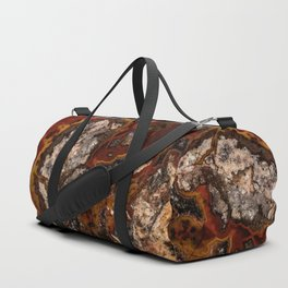 Twisted patterns of brown, red and beige stone Duffle Bag