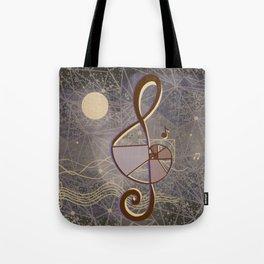 vintage music geometry Tote Bag