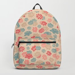 Retro Water Lily Pattern Backpack