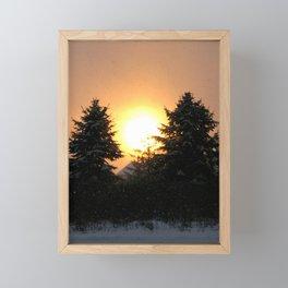 Sunset Over Pines Framed Mini Art Print