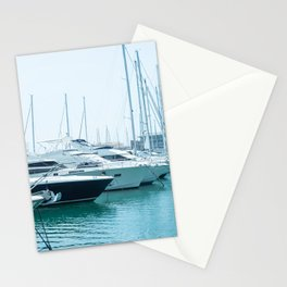 Travel Photography | Art Print | Luxurious Yachts And Boats  Stationery Cards