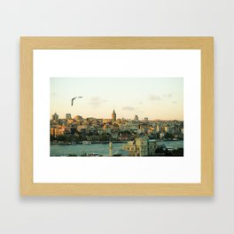 Istanbul Cityscape Photo Framed Art Print