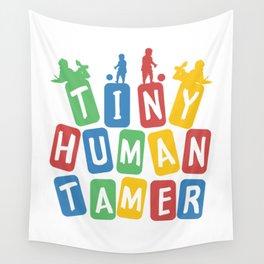 Tiny Human Tamer Wall Tapestry