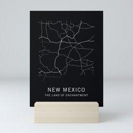 New Mexico State Road Map Mini Art Print