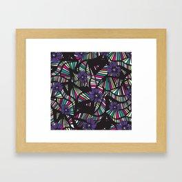 Lined Art Floral Framed Art Print
