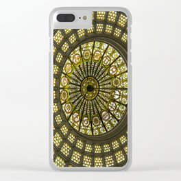 Tiffany Dome of the Chicago Cultural Center Clear iPhone Case
