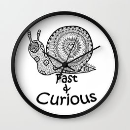 Fast & Curious Wall Clock