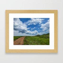 Follow the Clouds Framed Art Print