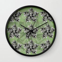 Kaleidescope Witch Wall Clock