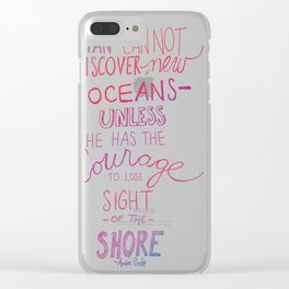 lose sight of the shore Clear iPhone Case