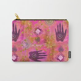 Hands ethnic symbol painting Carry-All Pouch