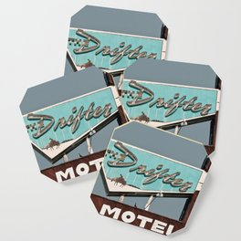 Vintage Neon Sign - The Drifter - Silver City Coaster