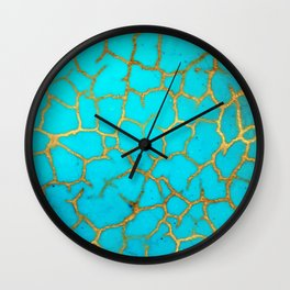 Turquoise Stone Wall Clock
