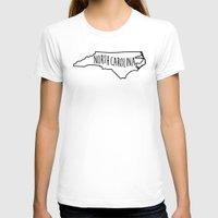 north carolina T-shirts featuring North Carolina Type Map by Painted Post