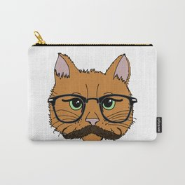Mustache Cat Carry-All Pouch