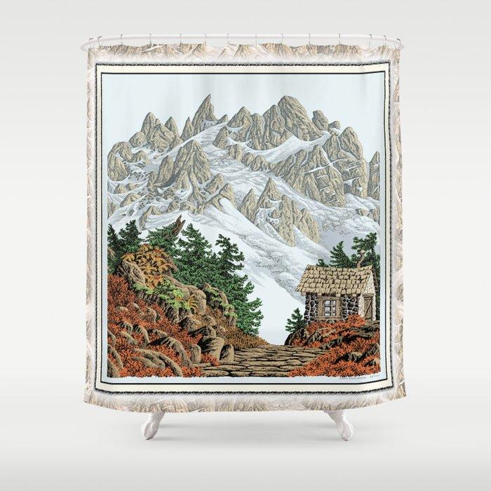 BEYOND MOUNT SHUKSAN AUTUMN COLOR VERSION Shower Curtain