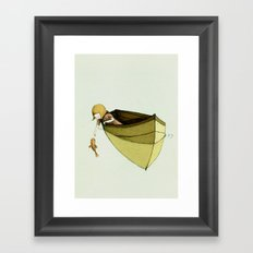 Sofi and the Fish Framed Art Print