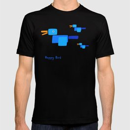 Happy Bird-Blue T-shirt