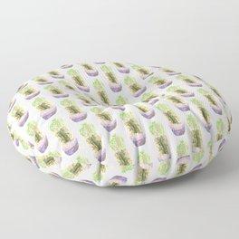 Papercraft Cactus in Green Floor Pillow