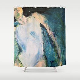 Girl on water Shower Curtain