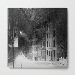 snowstorm street Metal Print