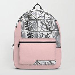 Pink greenhouse illustration Backpack