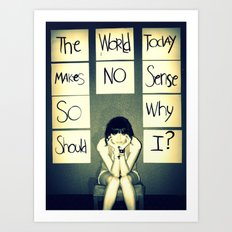 A picture is worth a thousand words.  Art Print