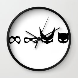 Masked Fem - The Women of the Bat Wall Clock