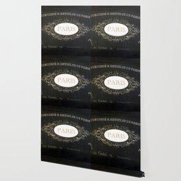 Paris Black White Gold Typography Home Decor Wallpaper