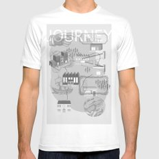 Mix And Match White SMALL Mens Fitted Tee