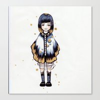 magical girl Canvas Prints featuring Magical Girl  by Atree