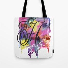 Calligraphy Capital Initial H Tote Bag