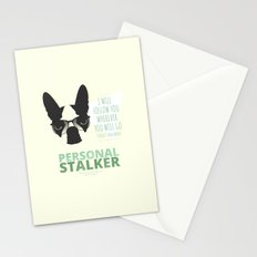 Boston Terrier: Personal Stalker. Stationery Cards