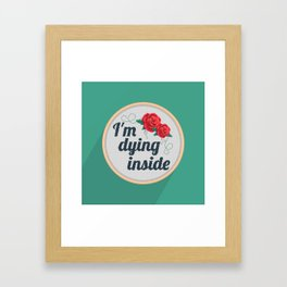 Brutally Honest Cross Stich Framed Art Print