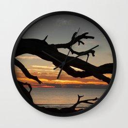 Sunrise Driftwood Wall Clock