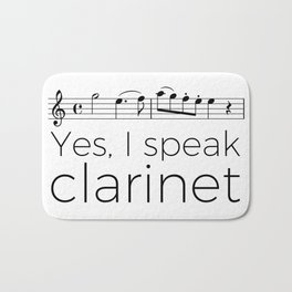 I speak clarinet Bath Mat