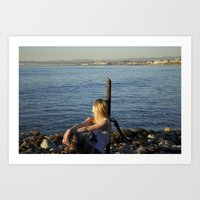 LA beaches Art Print