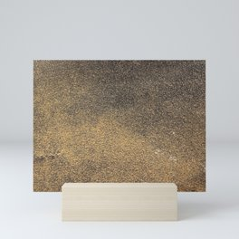Black Yellow Sandpaper Texture Mini Art Print