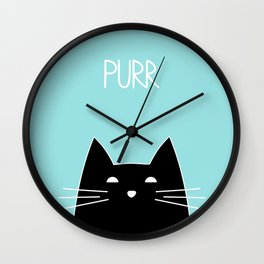 Purr Wall Clock