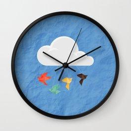 origami Wall Clock