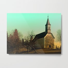 The village church of Hollerberg I | architectural photography Metal Print