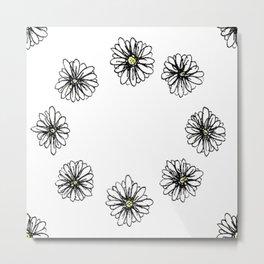 Large Flower Pattern Metal Print