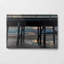 Under the pier, White Rock British Columbia Metal Print