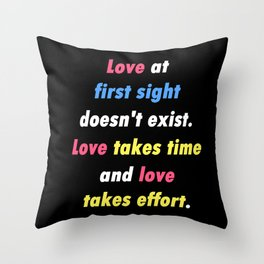 Love at First Sight - SU Garnet Quote Throw Pillow