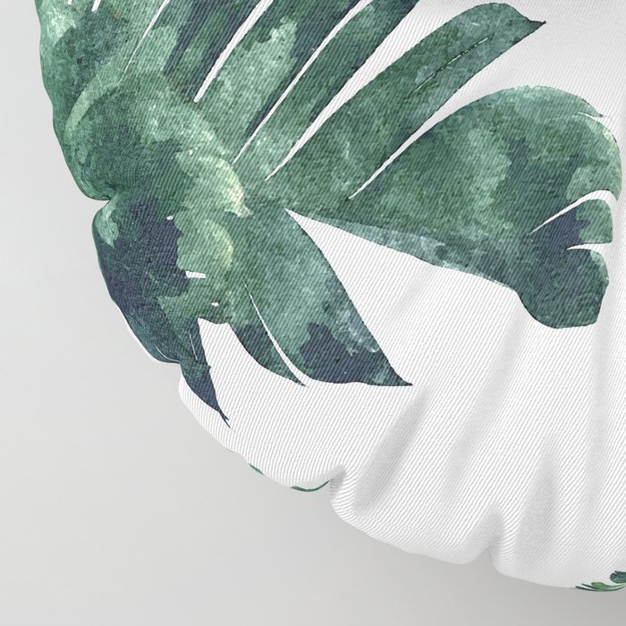 Banana Leaf Watercolor #society6 #buy #decor Floor Pillow